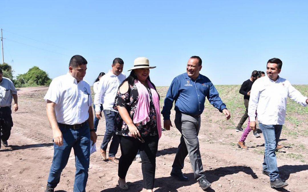 Autoridades municipales y estatales supervisan obra de agua potable en Los Difuntos