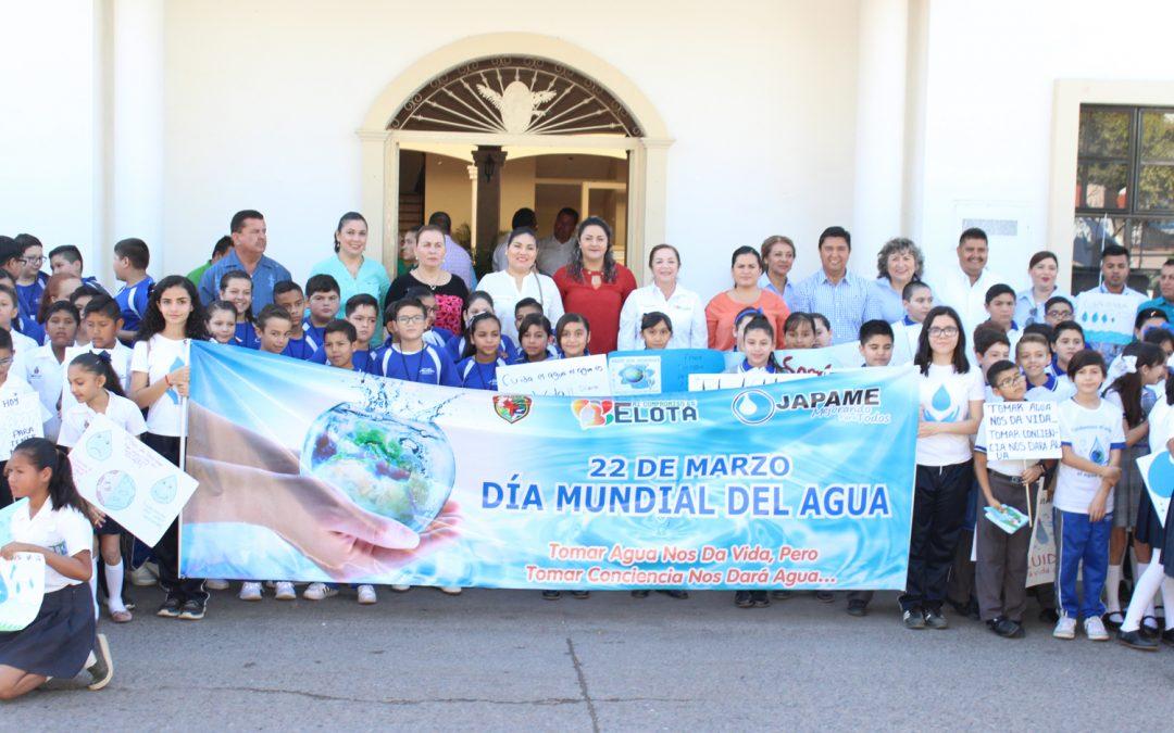 Realiza Japame en colaboración con escuelas primarias y secundarias desfile en conmemoración al día mundial del agua
