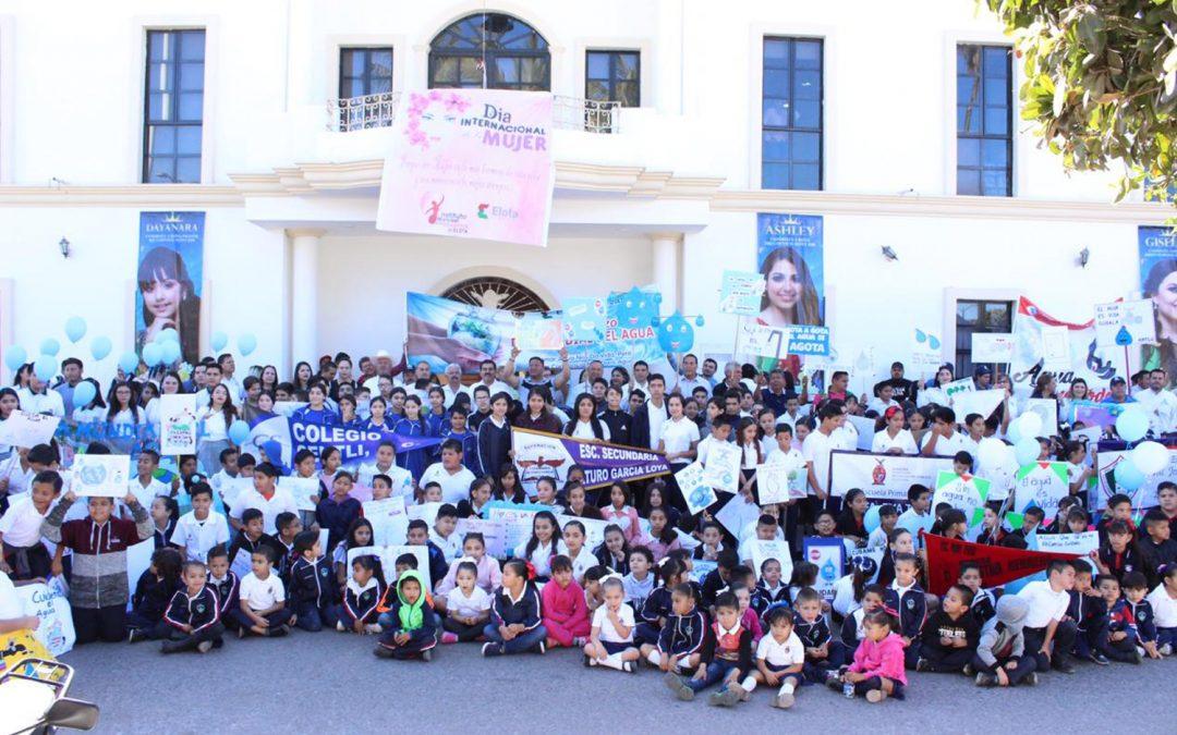 Realiza japame en colaboración con escuelas primarias, secundarias y preparatorias desfile en conmemoración al día mundial del agua