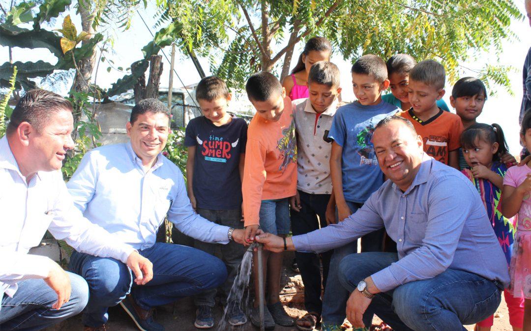 Autoridades municipales inauguran nuevo sistema de agua potable en Los Difuntos, Elota