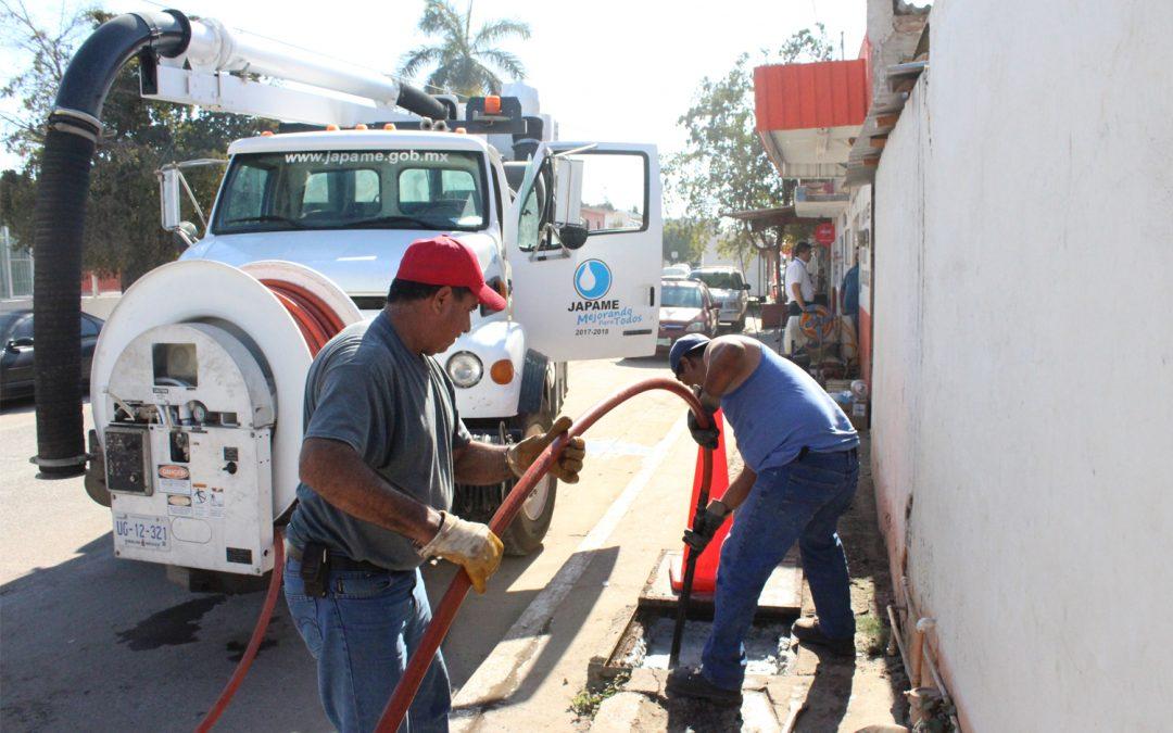 Inicia Japame trabajos de mantenimiento preventivo en drenaje sanitario del municipio