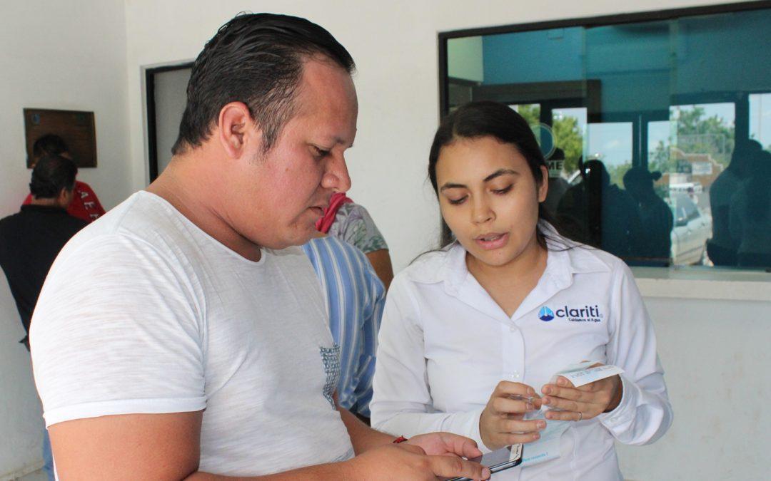 Recomiendan herramienta de consulta claribot a usuarios en oficinas de Japame