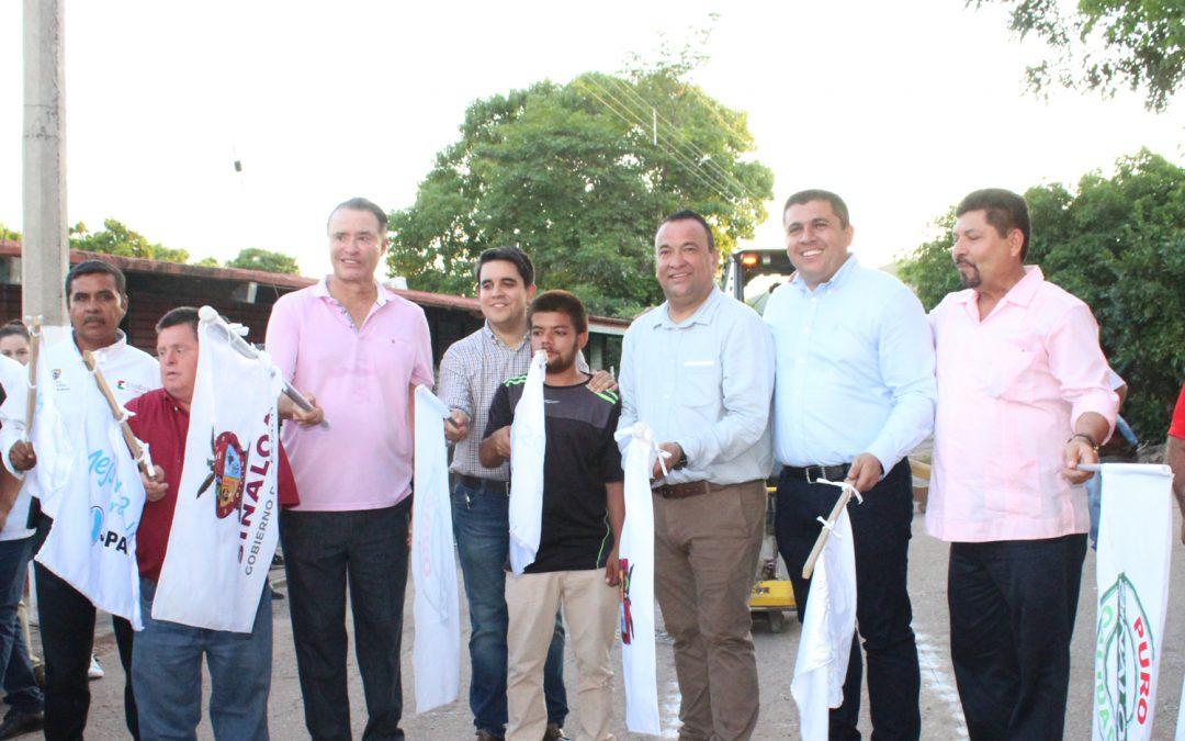 Abandera gobernador del estado de Sinaloa 9 obras en materia de agua potable, alcantarillado y saneamiento en el municipio de Elota por más de 30 millones de pesos