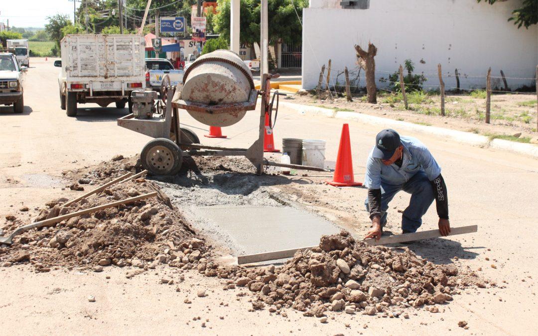 Continúa Japame con trabajos de bacheo en vialidades afectadas por reparaciones de fugas de agua potable y drenaje sanitario
