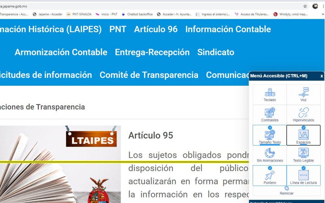 Implementa JAPAME sistema de accesibilidad web para personas con capacidades y limitaciones diferentes en su portal institucional