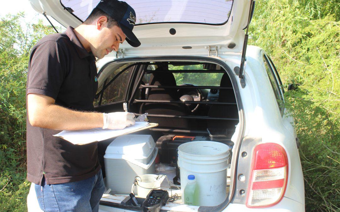 Realizan estudio quimico-bacteriologico a planta de tratamiento de aguas residuales de La Cruz