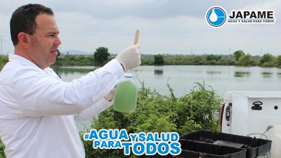 Se realiza estudio quimico-bacteriologico en laguna de tratamiento de agua potable