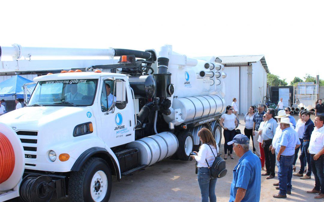 Adquiere Japame camión vactor seminuevo, para limpieza del sistema de alcantarillado sanitario y fosas sépticas en el municipio de Elota