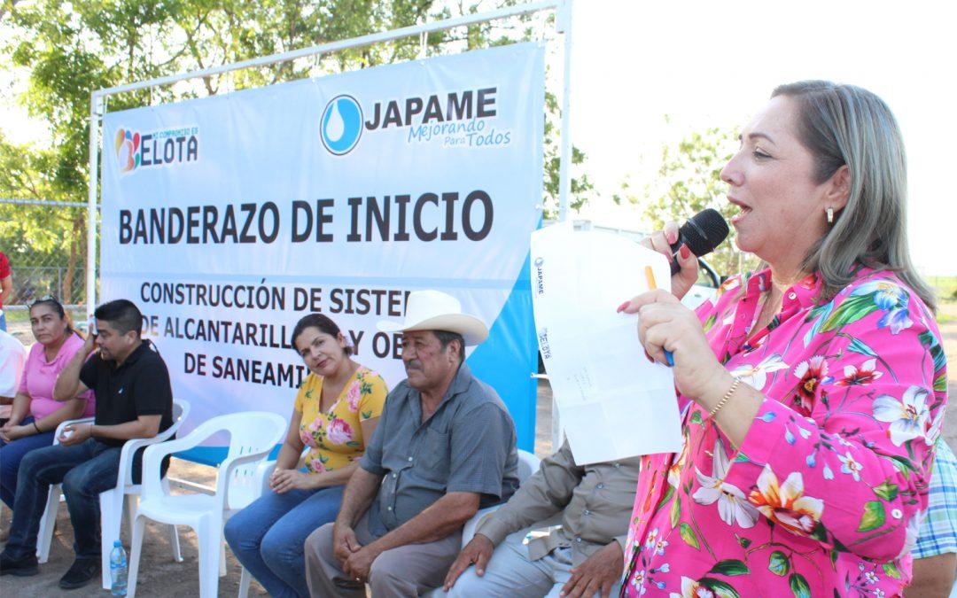 Autoridades municipales dan el banderazo para la construcción del nuevo sistema de alcantarillado en Granjas del Norote