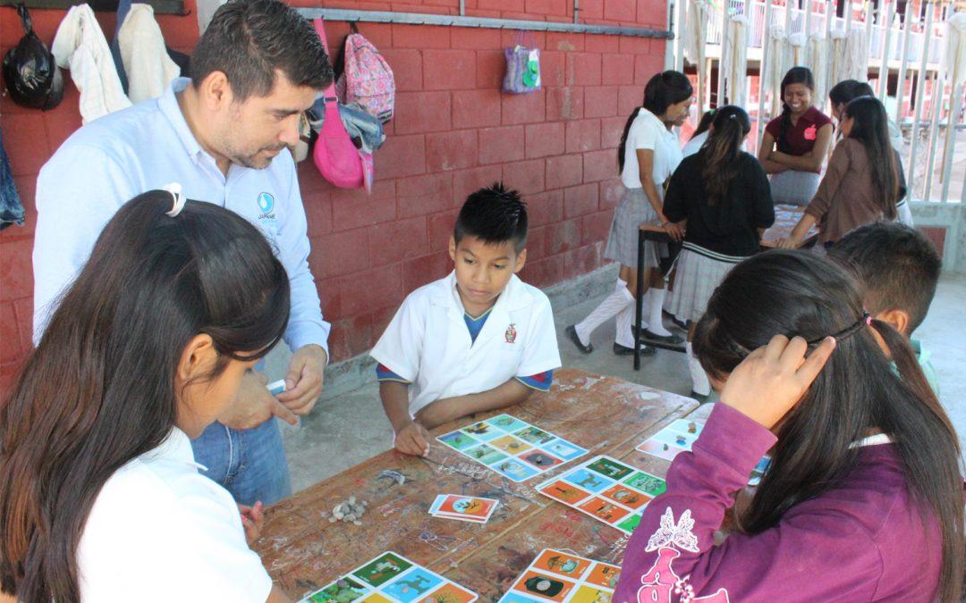 Efectúa japame actividades sobre el cuidado del agua en escuela primaria José María Morelos y Pavón del campo La Paloma