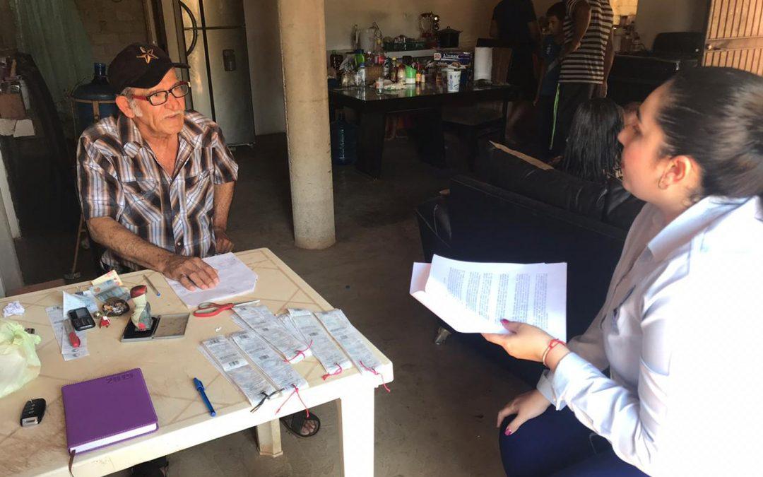 Visita personal de Japame a los administradores de las comunidades rurales