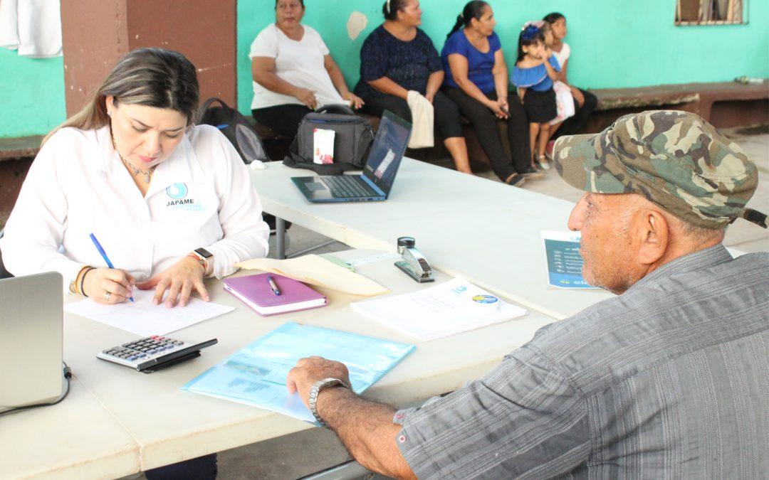 Instala Japame módulo de atención para usuarios en jornada de servicios municipales en la sindicatura El Espinal