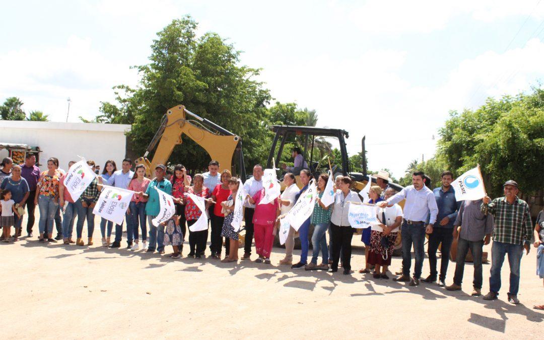 Se dan banderazos para el inicio de las obras de agua potable en La Cruz, Emiliano Zapata y del sistema multiple en El Salado, Saladito, Arroyitos y Tayoltita, Elota