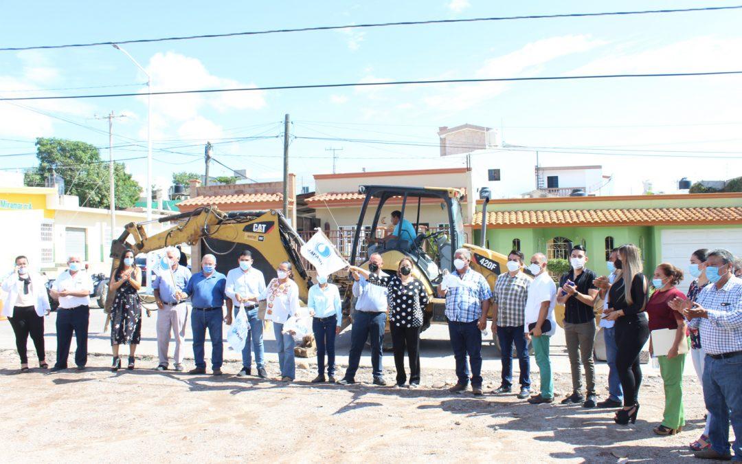 Autoridades municipales dan banderazos para el inicio de obras de agua potable y alcantarillado en La Cruz y Abocho, Elota